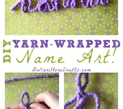 Yarn Wrapped Name Art - Looking for an easy way to make personalized art? Try making a yarn-wrapped name! You can make this project with or without the Loopdeeloo.