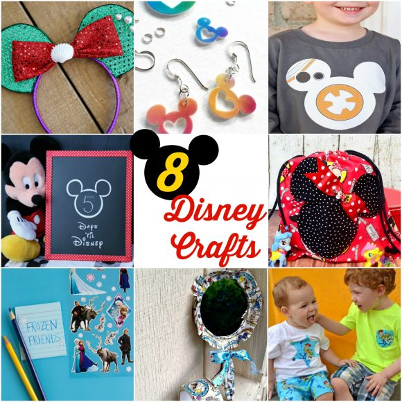 8 Disney Crafts -- free tutorials