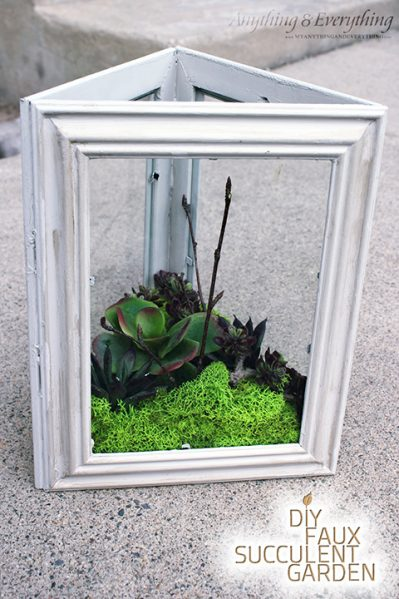Make A Faux Succulent Planter With Frames 187 Dollar Store