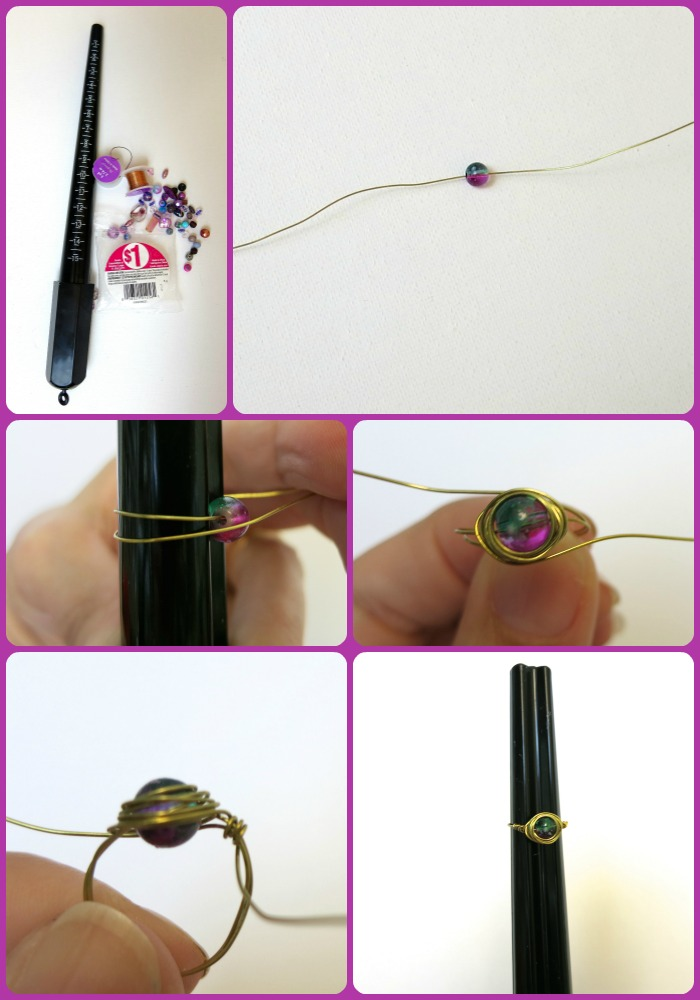 Wire wrapped ring tutorial