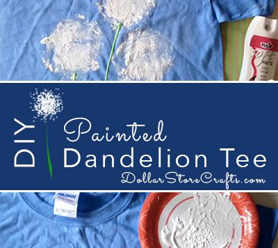 Painted Dandelion T-shirt - There are a zillion ways you can dress up the humble t-shirt. One of our favorites is this super easy method of making dandelions - no special artistic skills required!