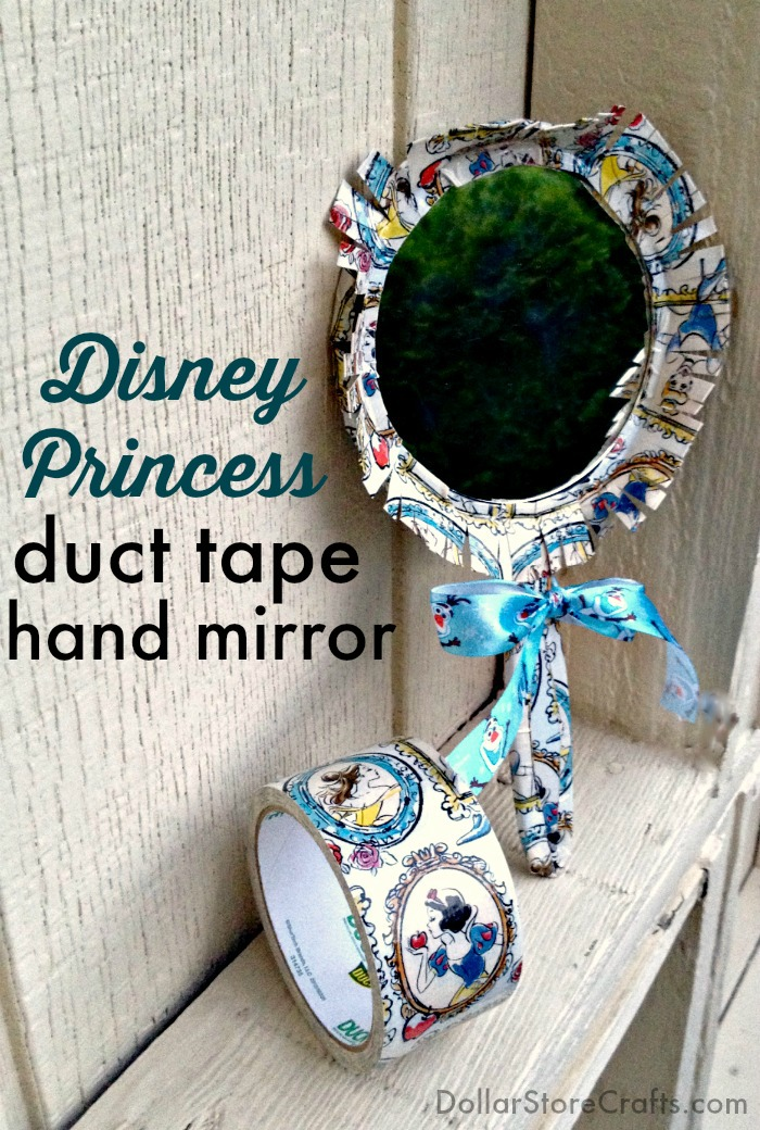 Disney Princess Duct Tape Hand Mirror Tutorial - this is a dollar store craft!