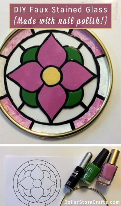 Faux Stained Glass Suncatcher - Use clear plastic containers to create faux stained glass suncatchers! They are as easy to make as they are pretty to look at.