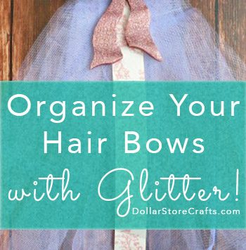 Glittery Hair Bow Organizer - This hair bow organizer is a pretty way to keep little girl's hair bows neatly organized. It makes a great gift, too!