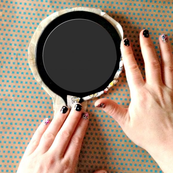 Duct tape hand mirror - simple and fun craft!