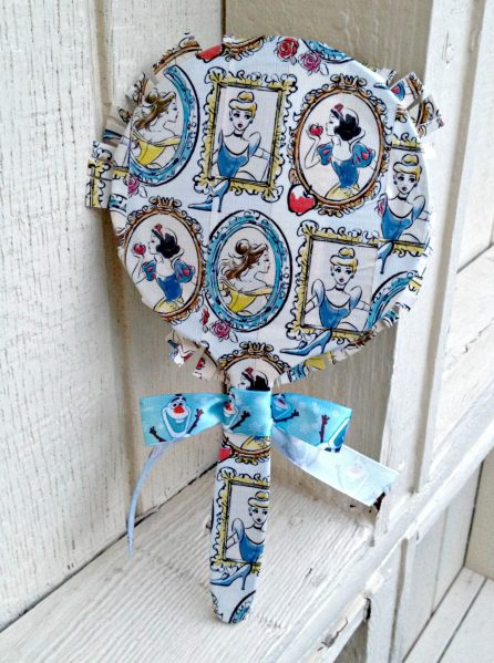 Disney Princess duct tape hand mirror - simple and fun craft!
