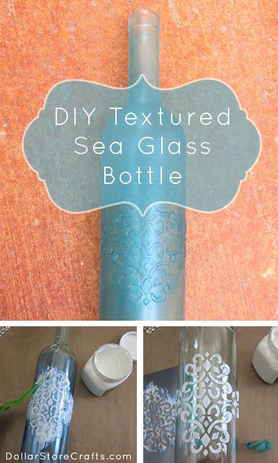Tutorial: Faux Sea Glass Bottles