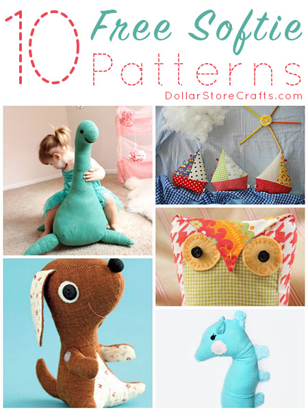 10 Free Softie Sewing Patterns - Got a baby shower or kid's birthday party coming up? Free plushie patterns to the rescue! You can stitch up a 100 percent unique gift for your favorite kid.