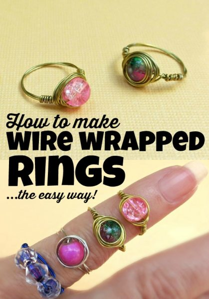 How to make wire-wrapped rings... the easy way!