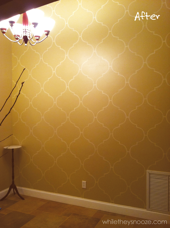 Stencil A Moroccan Accent Wall 187 Dollar Store Crafts
