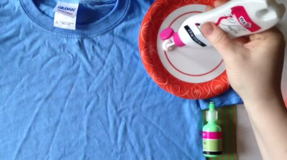 painted dandelion shirt