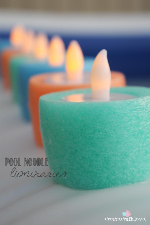 Make Pool Noodle Luminaries 187 Dollar Store Crafts