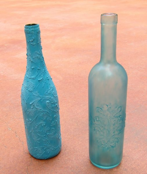Make a Faux Sea Glass Bottle - Sea glass is still so popular, and it's a beautiful way to decorate your home in the summer.  Rather than buying new decorative accents, you can make your own using a few simple items plus recyclables.