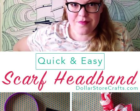 So cute! I want to make a dozen scarf headbands, so I can wear a different one every day.