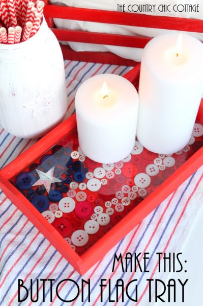 DIY Button Flag Tray
