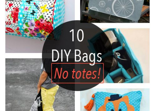 Tote bags are a great beginner sewing project, but sometimes you need a little bit more of a specialized bag. These DIY bag tutorials don't have a tote in the bunch! You can raid your fabric stash or hit the thrift store for linens to make any of these bags on the cheap.