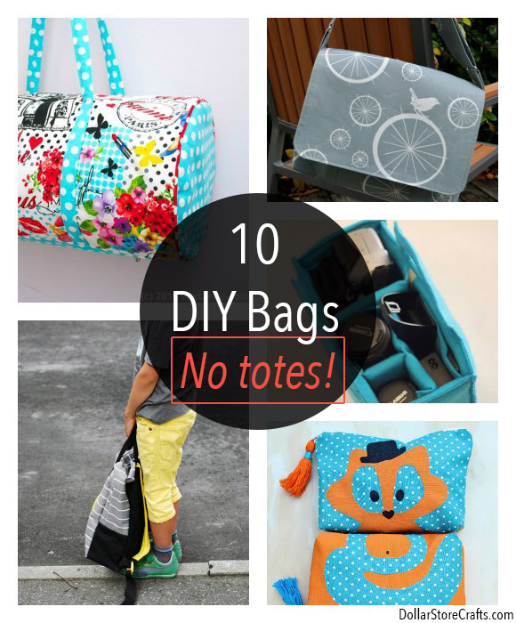 10 DIY Bag Tutorials Beyond Totes