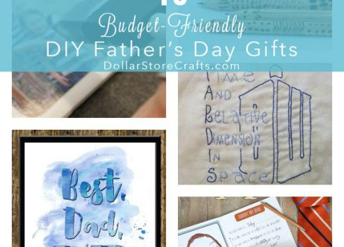 There's one crafting weekend left before Father's Day, so if you're planning a DIY Father's Day gift, now's the time to get cracking! If you need a little DIY Father's Day gift inspiration, here are 10 fun gifts that you can make on a budget.