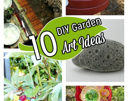 Summer is officially here. Has the hot weather done a number on your garden? I don't have any tips on helping your plants survive a heat wave, but I can show you how to make your garden look cute with things that don't need watering and can't die. Because they're not plants. Hello, homemade yard accessories!