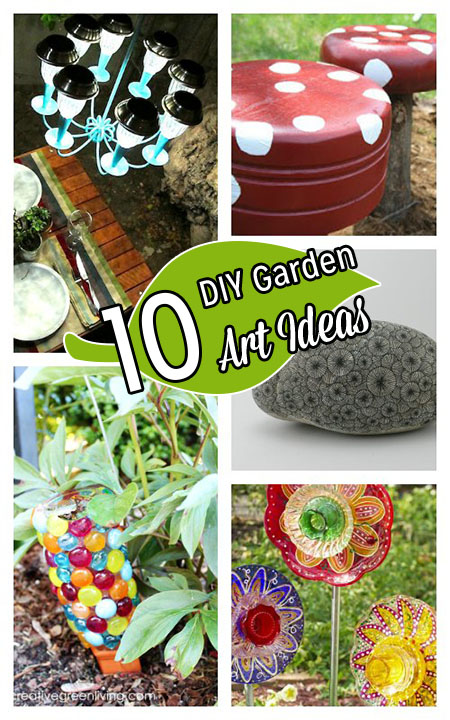 10 Cute Recycled Garden Art Ideas 187 Dollar Store Crafts