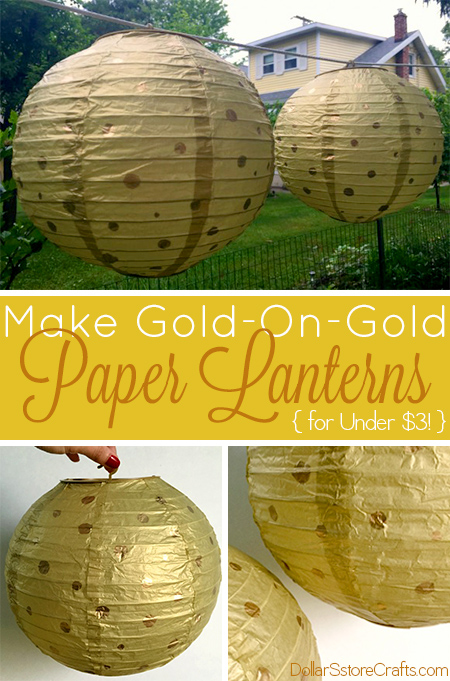 You only need two supplies to make these sweet gold-on-gold paper lanterns for between $1 and $3!