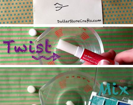 Heather's favorite eye shadow isn't a standard powder; instead, it comes in the form of a balm-like stick. Curious if she could recreate this type of product herself, she tried this fun experiment with dollar store lip balm and eye shadow!