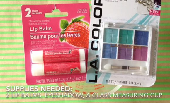 DIY eye shadow balm supplies
