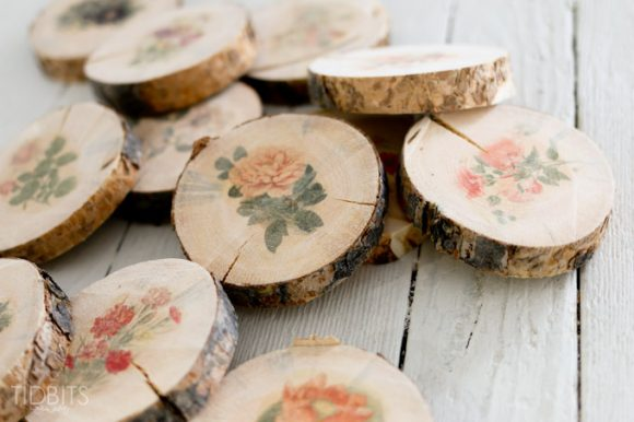 inkjet wood slice coasters