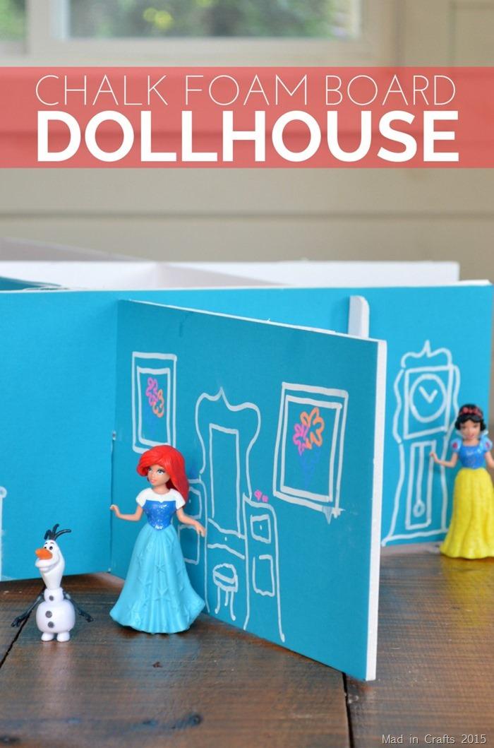 Make Chalk Foam Board Dollhouse 187 Dollar Store Crafts