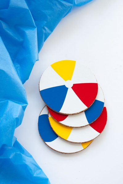 beach ball coasters