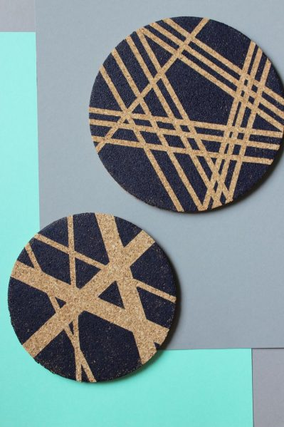 geometric washi coasters