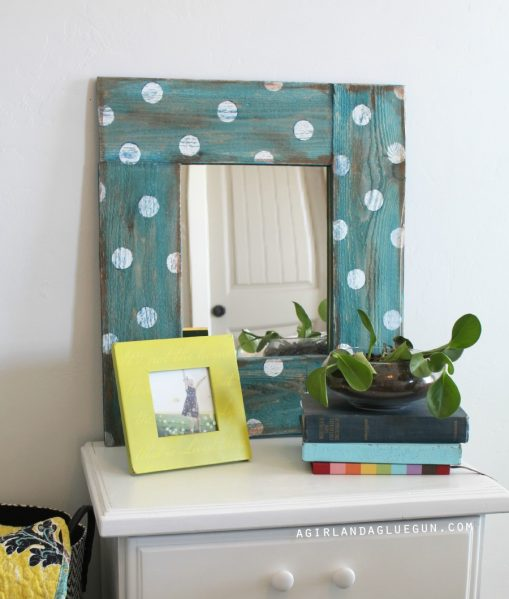 DIY Polka Dot Mirror