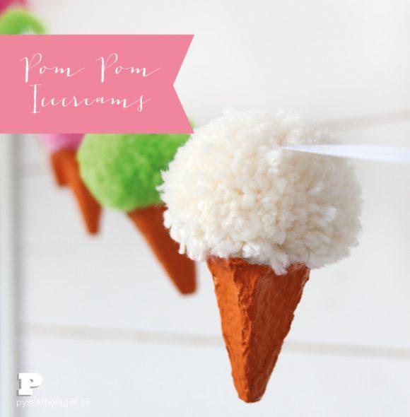 pom pom ice cream cone garland