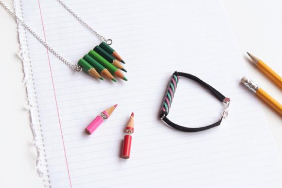 DIY Pencil Jewelry