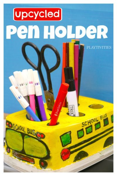 DIY School Bus Pencil Holder