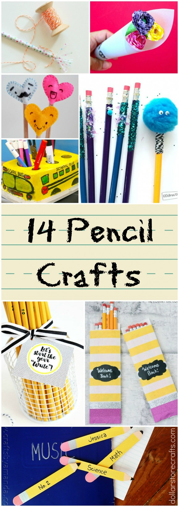 Pencil Crafts Collage