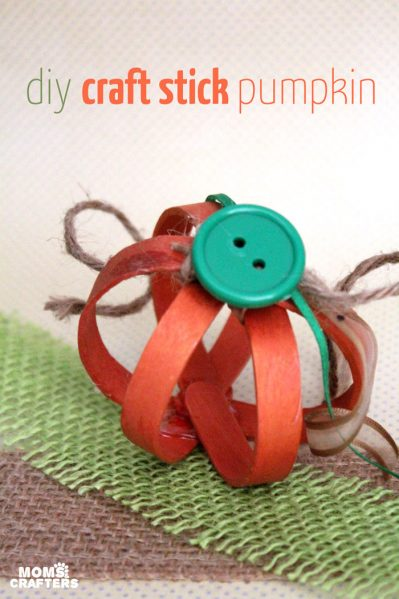Popsicle Stick Pumpkin