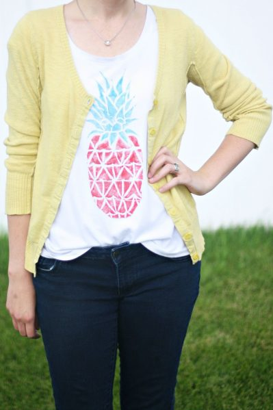 Stamped Pineapple Shirt