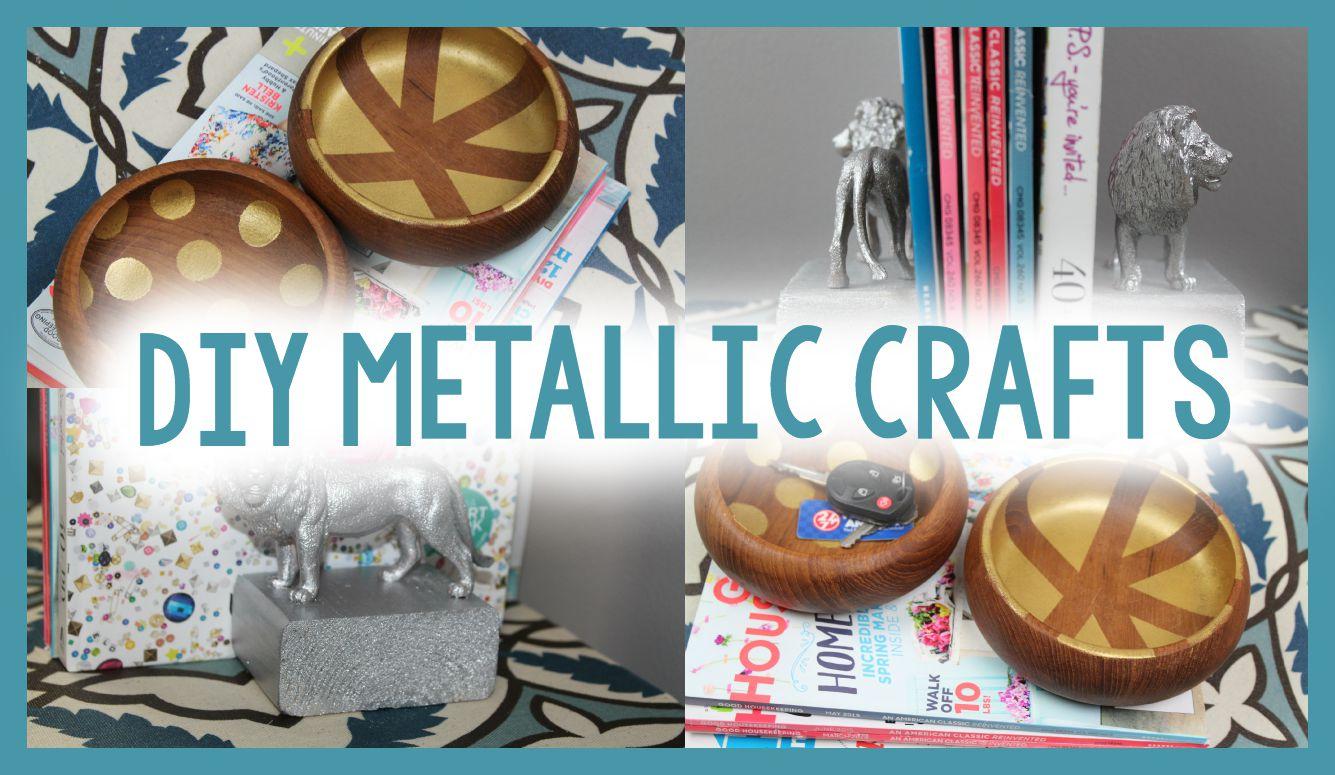 Diy Metallic Crafts For Organization Dollar Store