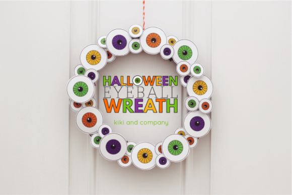 Make an Eyeball Halloween Wreath