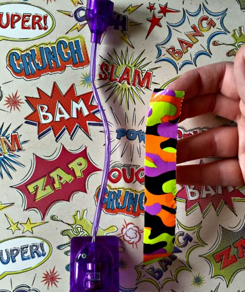 DIY duct tape reading light project - encourage kids to read!