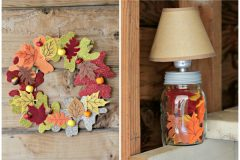 Two cheap fall leaves crafts - these are clever! I love dollar store crafts!