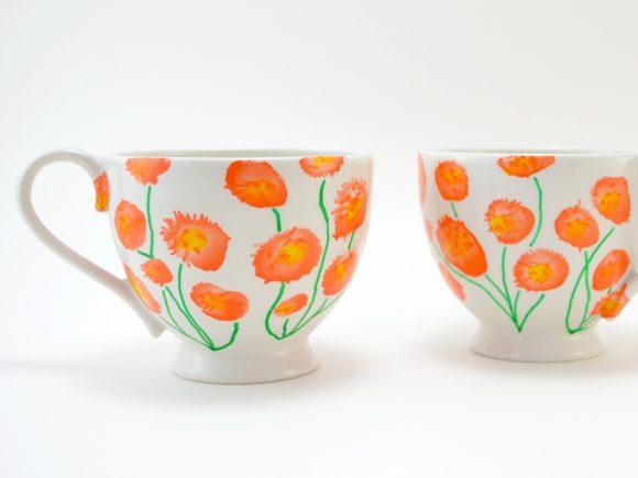 Painted Marigold Mug