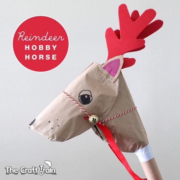 Recycled Reindeer Hobby Horse