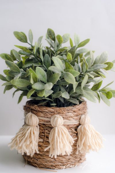 rope and tassel basket
