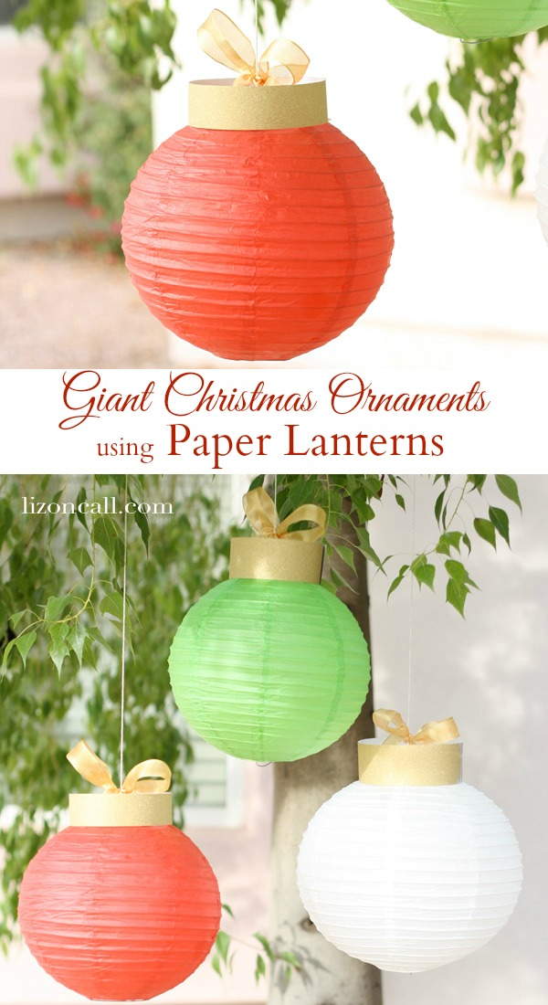 Dollar store crafts 187 blog archive 187 make paper lantern christmas