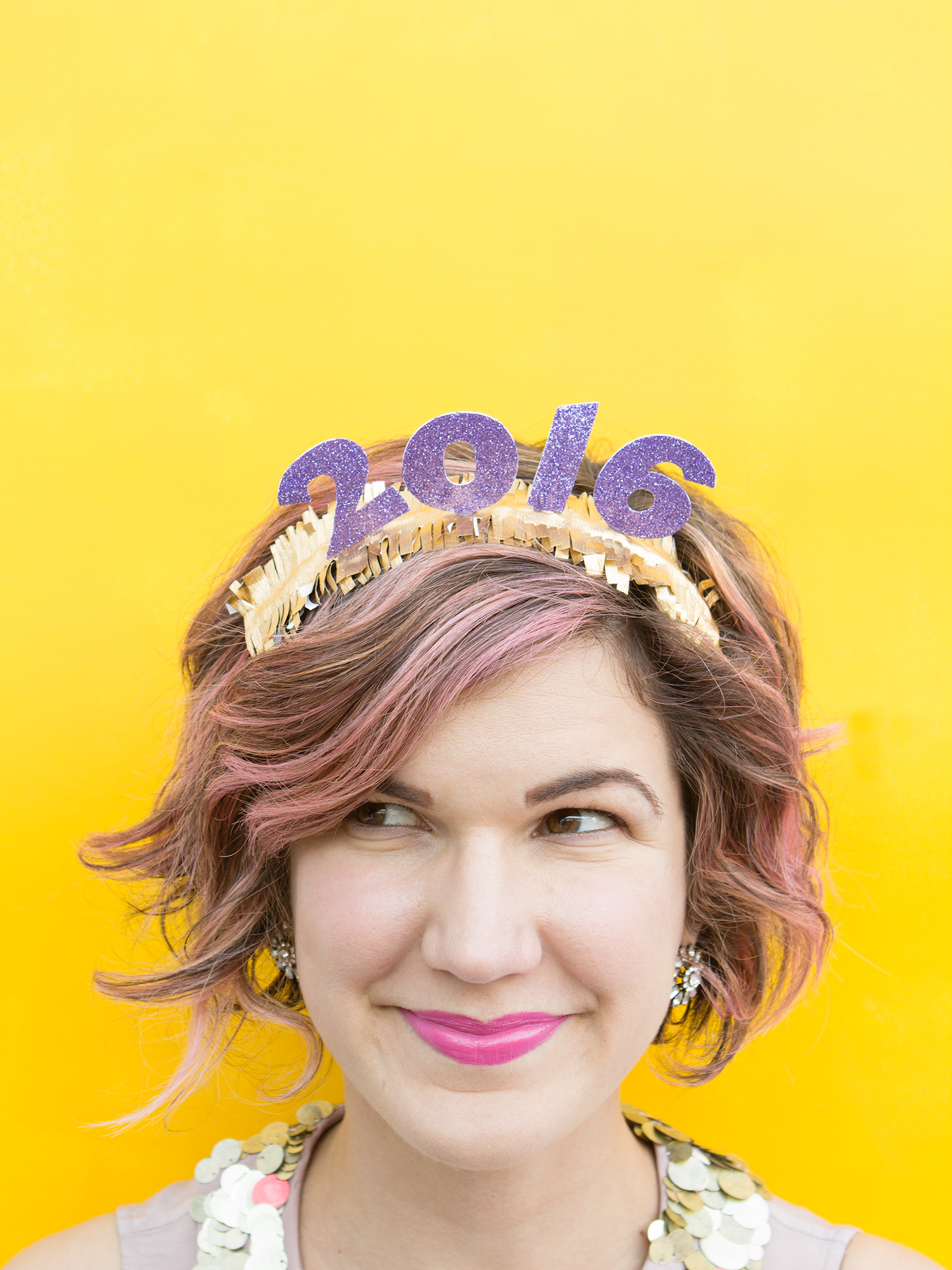 Glittery New Year's Headbands