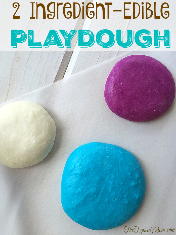 2 ingredient edible play dough
