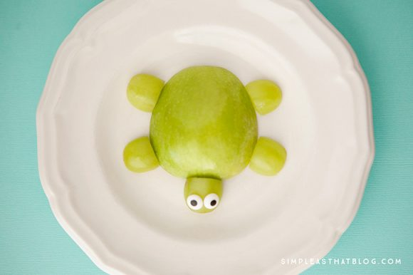 Make an Apple Turtle Snack