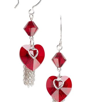 Make Crystal Heart Earrings